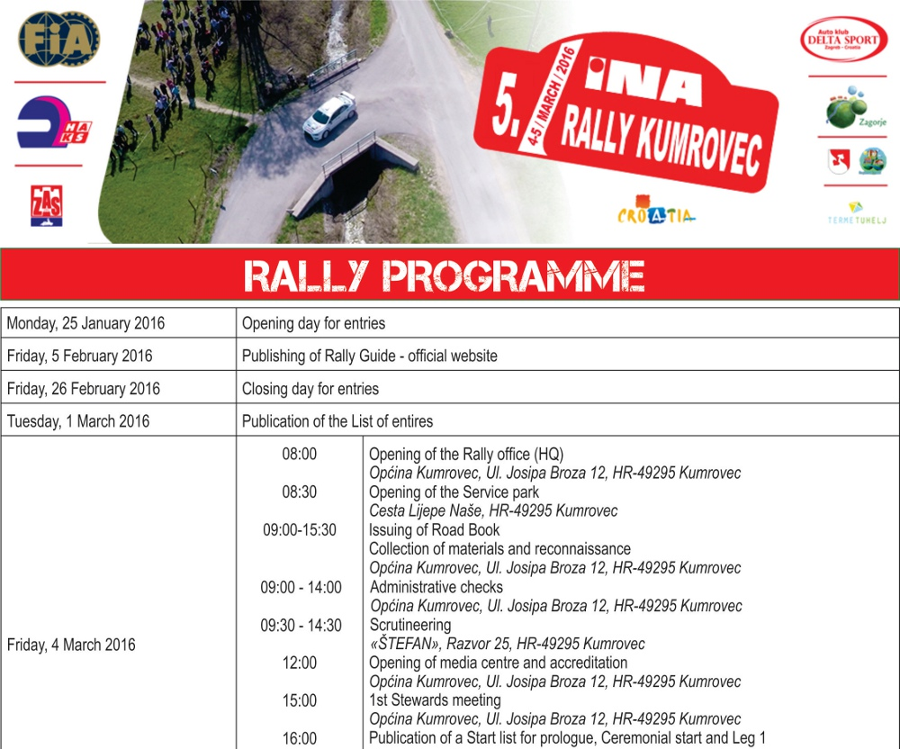 rally programme